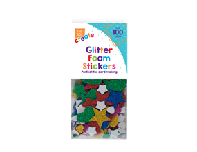 Wholesale Glittered Foam Craft Stickers | Gem Imports Ltd
