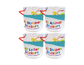 Wholesale Tub of 3D Craft Stickers | Gem Imports Ltd