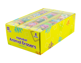 Alphabet Animal Erasers - 8 Pack