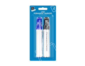Jumbo Permanent Markers - Twin Pack
