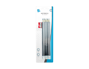HB Pencils & Sharpener - 10 Pack