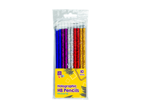 Holographic HB Pencils - 10 Pack