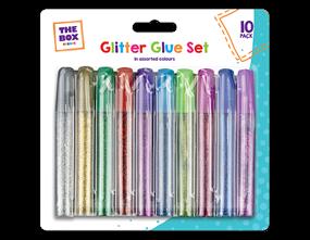 Glitter Glue Pens - 10 Pack