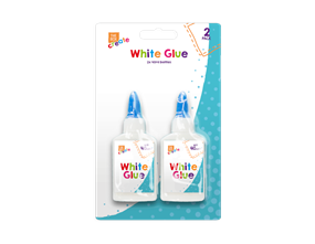 White PVA Glue 40ml - 2 Pack