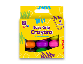 Easy Grip Crayons - 9 Pack