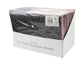 Wholesale A4 Printed Document Wallets | Gem Imports Ltd