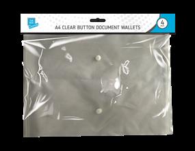 Wholesale A4 Clear Button Document Wallets | Gem Imports Ltd