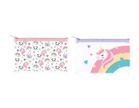 Wholesale Kids Rainbow PVC Pencil Cases | Gem Imports Ltd