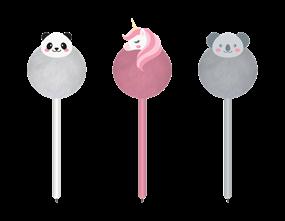 Wholesale Kids Rainbow Pom Pom Pens | Gem Imports Ltd