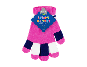 Kids Striped Magic Gloves