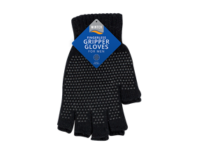 Mens Fingerless Gripper Gloves