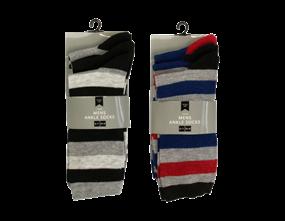 Wholesale Mens Stripe Ankle Socks | Gem Imports Ltd