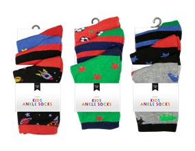 Wholesale Boys Fashion Ankle Socks | Gem Imports Ltd