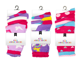 Wholesale Girls Fashion Ankle Socks | Gem Imports Ltd