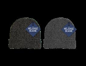Mens Melange Beanie Hat