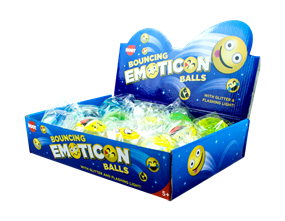 Emoticon Bouncing Glitter Balls