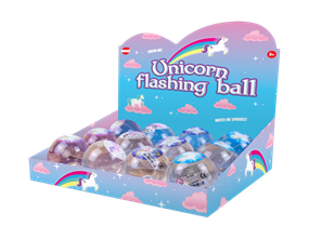 Glittered Unicorn Flashing Ball
