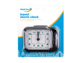 Travel Alarm Clock With Light