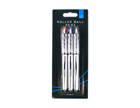 Roller Ball Pens - 3 Pack