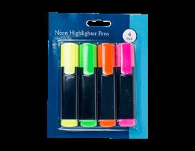 Neon Highlighter - 4 Pack