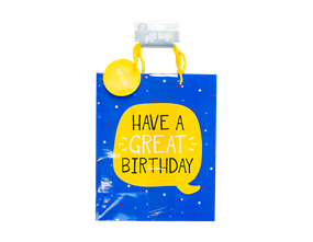 Large Birthday Gift Bags - 2 Pack