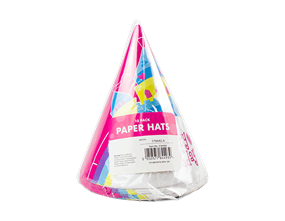 Girls Party Paper Hats - 10 Pack
