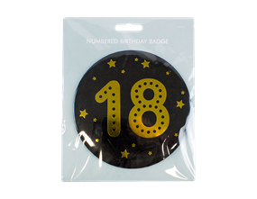 Numbered Birthday Badge