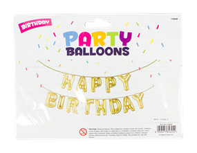 Wholesale Happy Birthday Wording Balloons | Gem Imports Ltd
