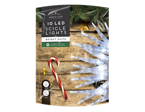 Wholesale White LED Christmas Icicle Lights | Gem Imports Ltd