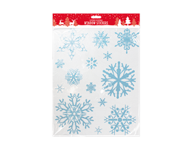 Christmas Glittered Snowflake Window Stickers