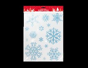 Christmas Glittered Snowflake Window Stickers