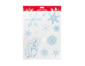 Glittered Christmas Window Stickers