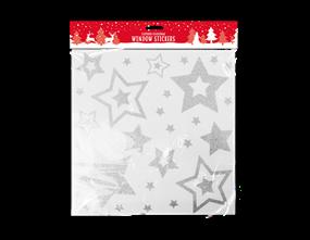 Christmas Glittered Star Window Stickers