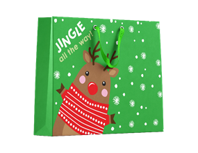 Cute Christmas Medium Gift Bags - 2 Pack
