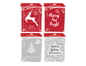 Wholesale Christmas Traditional Medium Gift Bags | Gem Imports Ltd