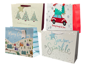 Wholesale Christmas Traditional Luxury Large Gift Bags | Gem Imports Ltd