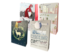Wholesale Christmas Traditional Luxury XL Gift Bags | Gem Imports Ltd