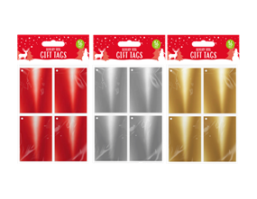 Christmas Foil Gift Tags - 16 Pack