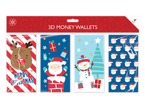Christmas Money Wallets - 4 Pack