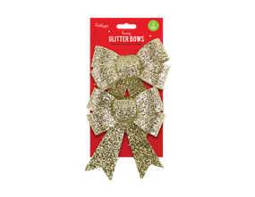 Christmas Glittered Large Bows