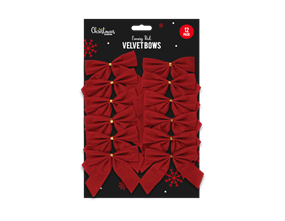 Wholesale Red Velvet Christmas Bows | Gem Imports Ltd
