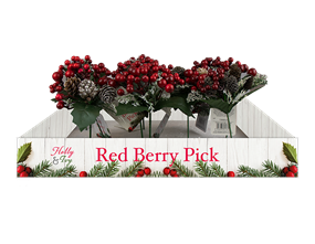 Wholesale Christmas Red Berry Pick | Gem Imports Ltd