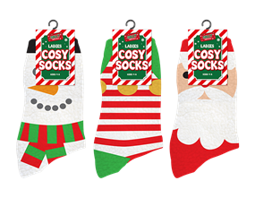Wholesale Ladies Cosy Christmas Socks | Gem Imports Ltd
