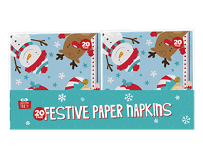 Christmas 3ply Napkins 33x33cm - 24 Pack