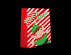Cute Christmas Medium Large Gift Bag