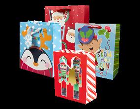 Wholesale Christmas Cute Luxury Medium Gift Bags | Gem Imports Ltd