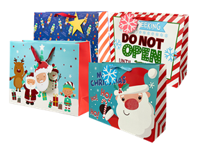 Wholesale Christmas Cute Luxury Large Gift Bags | Gem Imports Ltd