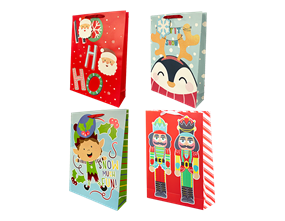 Wholesale Christmas Cute Luxury XL Gift Bags | Gem Imports Ltd