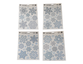 Wholesale Glitter Snowflake Window Stickers | Gem Imports Ltd