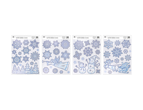 Wholesale Glitter Snowflake Scene Window Stickers | Gem Imports Ltd